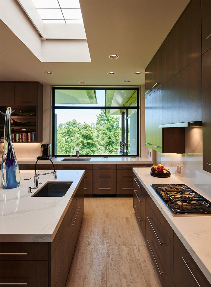 Kitchen interior of Freese-designed home in Joplin, MO
