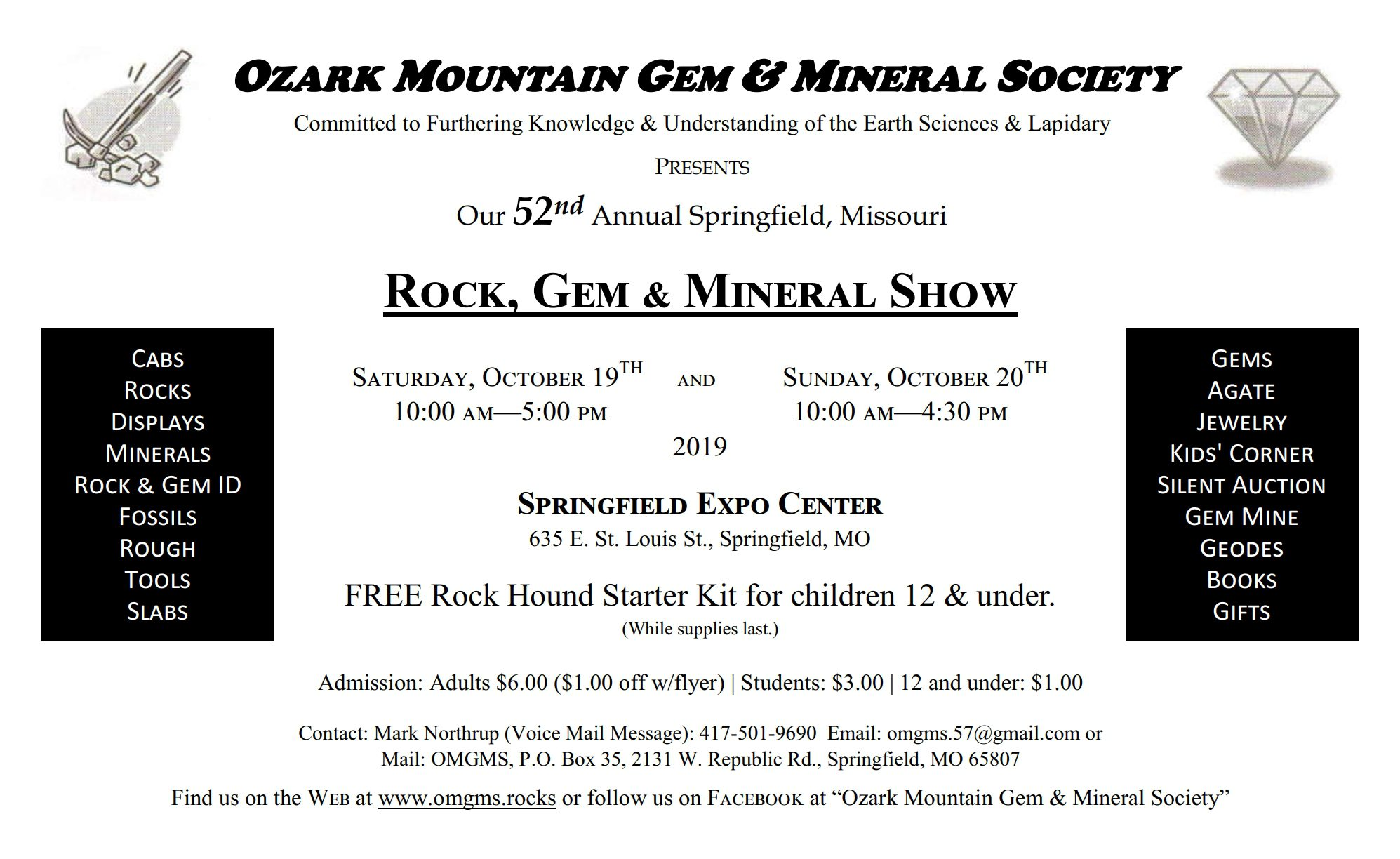 Rock, Minerals, & Fossils in Springfield, MO