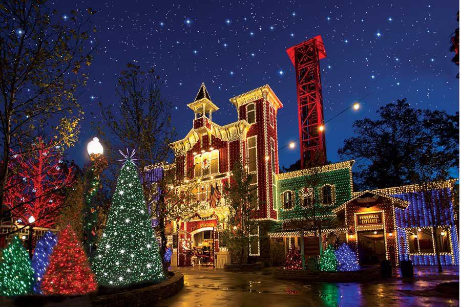 Christmas Lights at Silver Dollar City Christmas, Branson MO