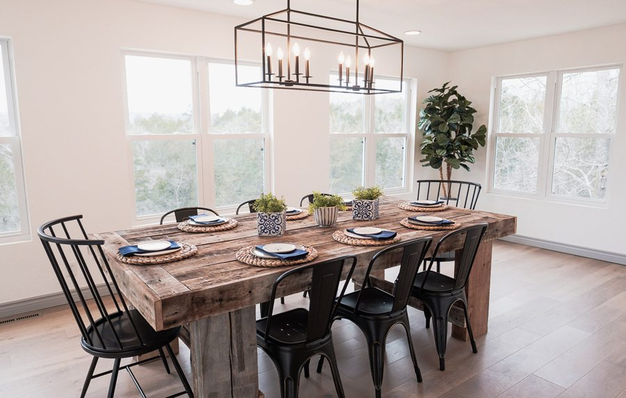 Table Rock Lake Home Giveaway dining room