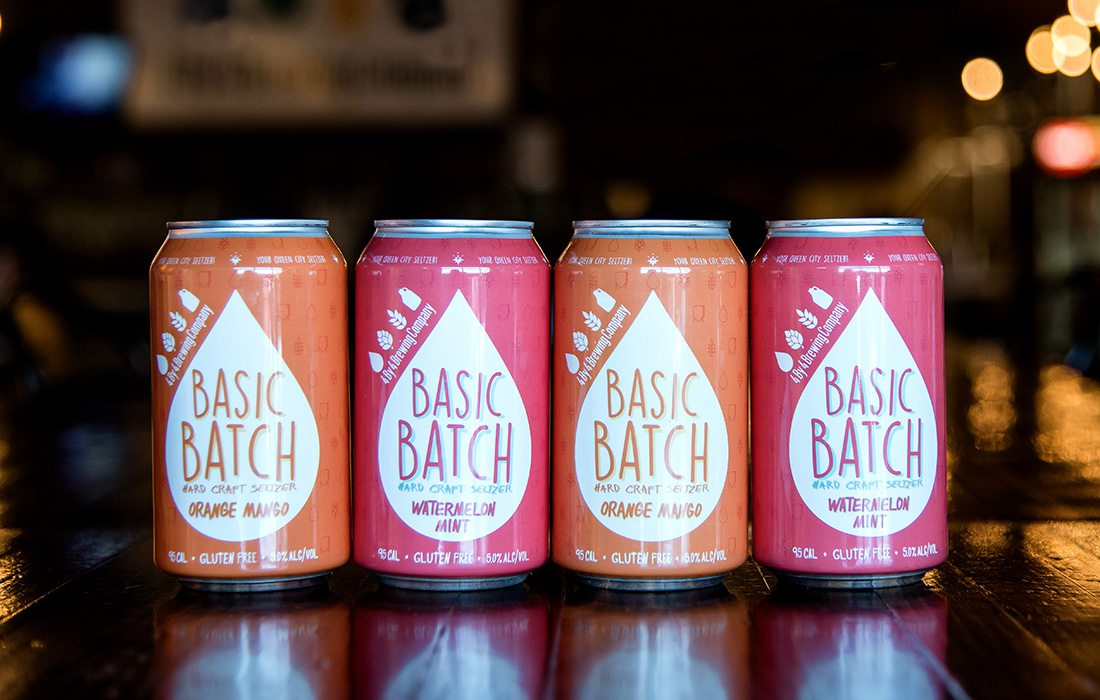 Basic Batch Hard Seltzer Cans from 4 By 4 Brewing Company in Springfield MO