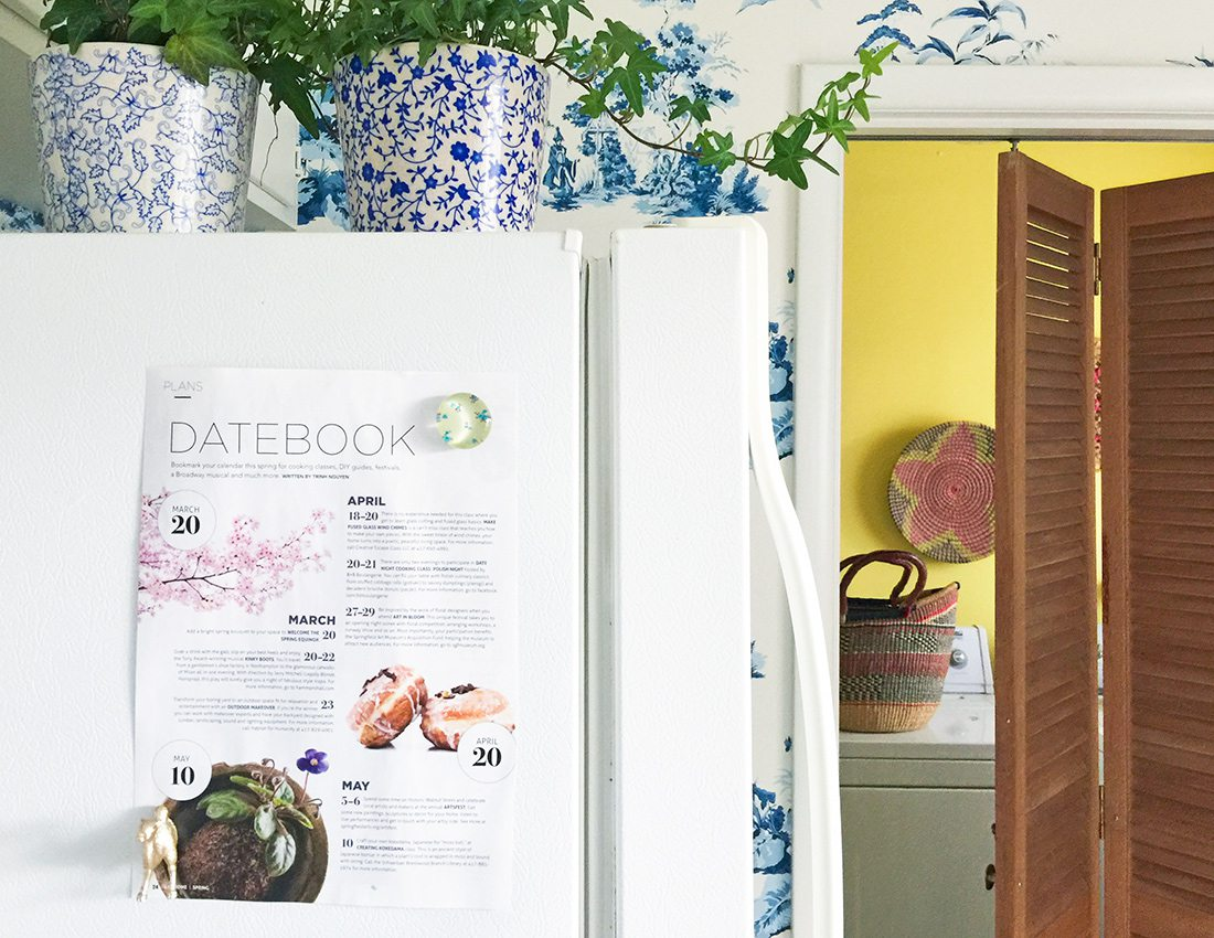 417 Home Datebook on the Refrigerator