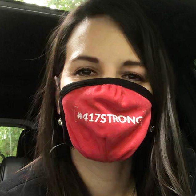 Dee King wears #417strong mask
