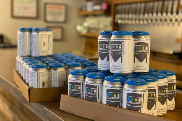 Canned beers at 4 By 4 Brewing Company