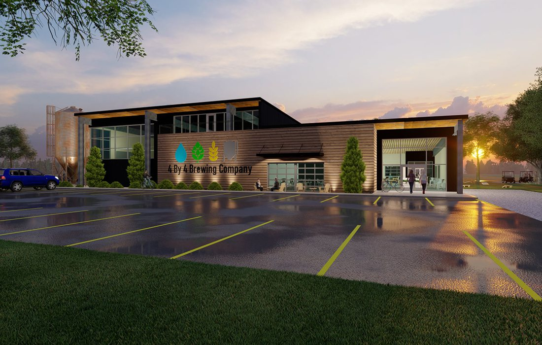 4 by 4 Brewing Company Fremont Hills rendering