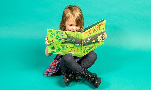 Eloise Estes reading Crawly School for Bugs.