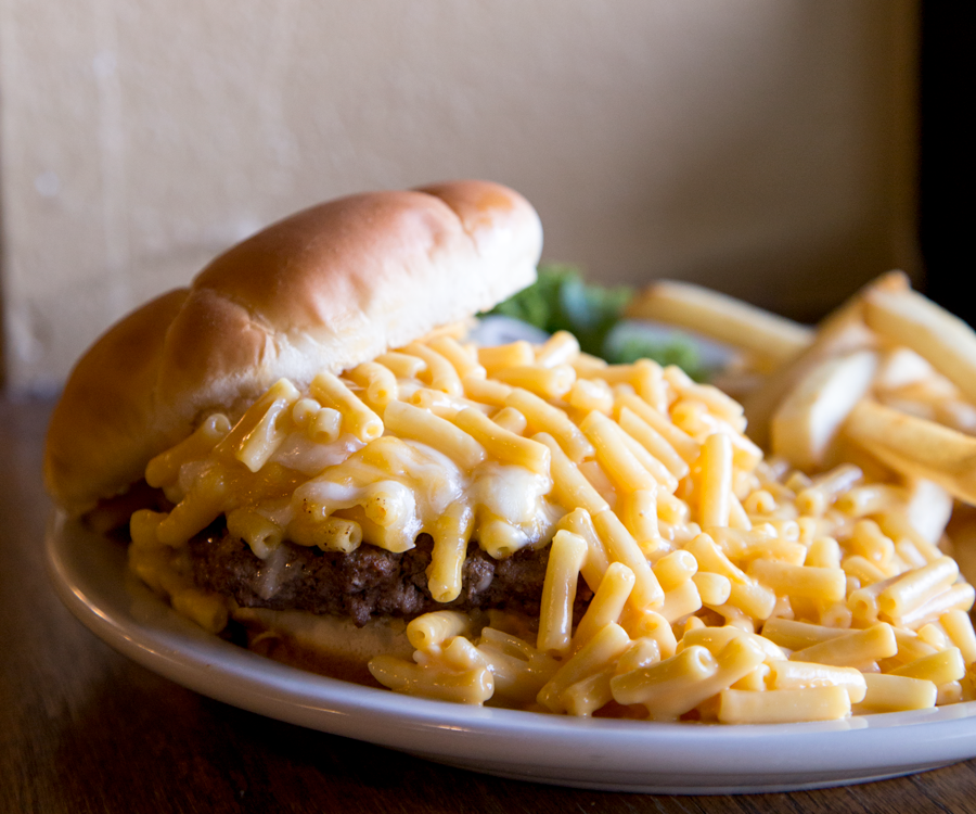 Mac 'n' Cheese Burger from Bair's All-American Sports Grill.