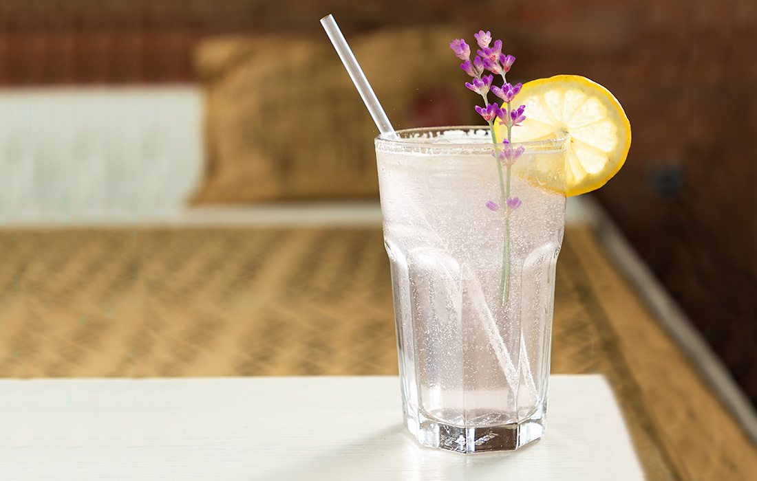 Iced Sparkling Lavender Lemonade from Eurasia Coffee Co. in Springfield MO