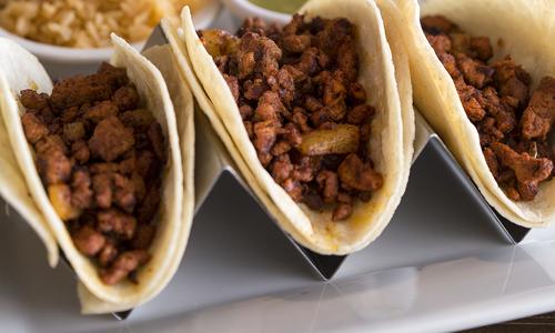 Famosos Tacos al Pastor at La Paloma Mexican Grill