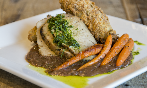 French Pork Roast at Aviary Cafe