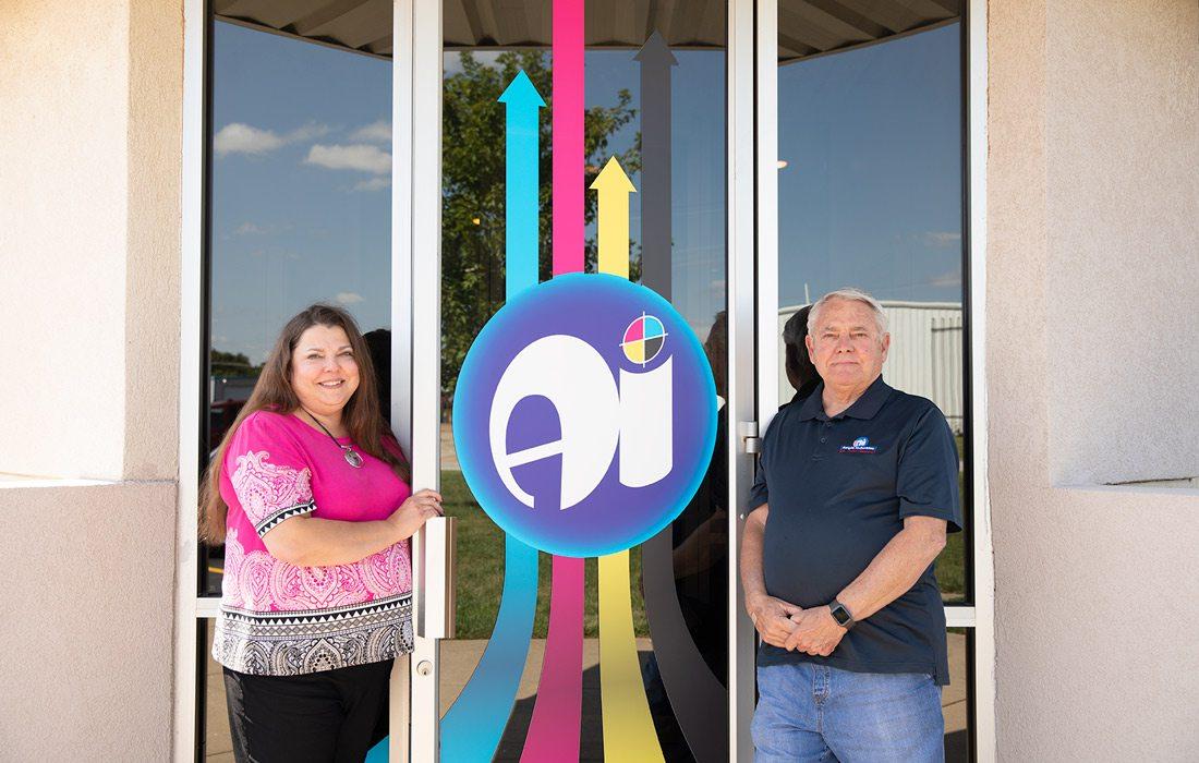 Natalie Spradlin and David Menzies at Ample Industries