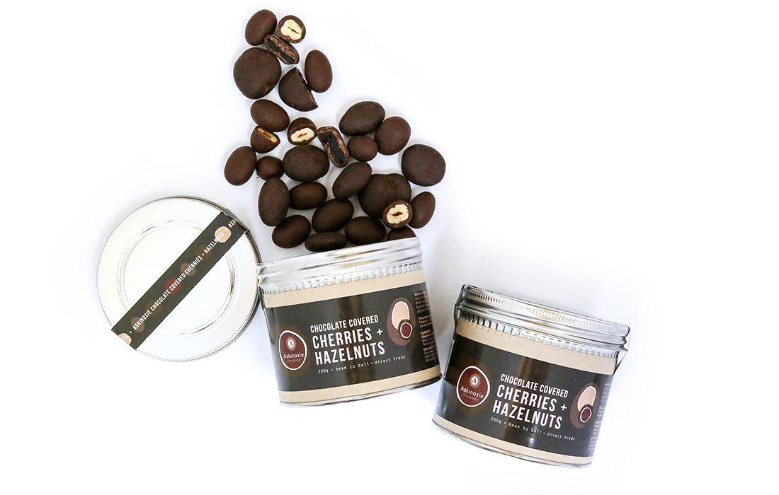 Askinosie Chocolate Covered Cherries and Hazelnuts