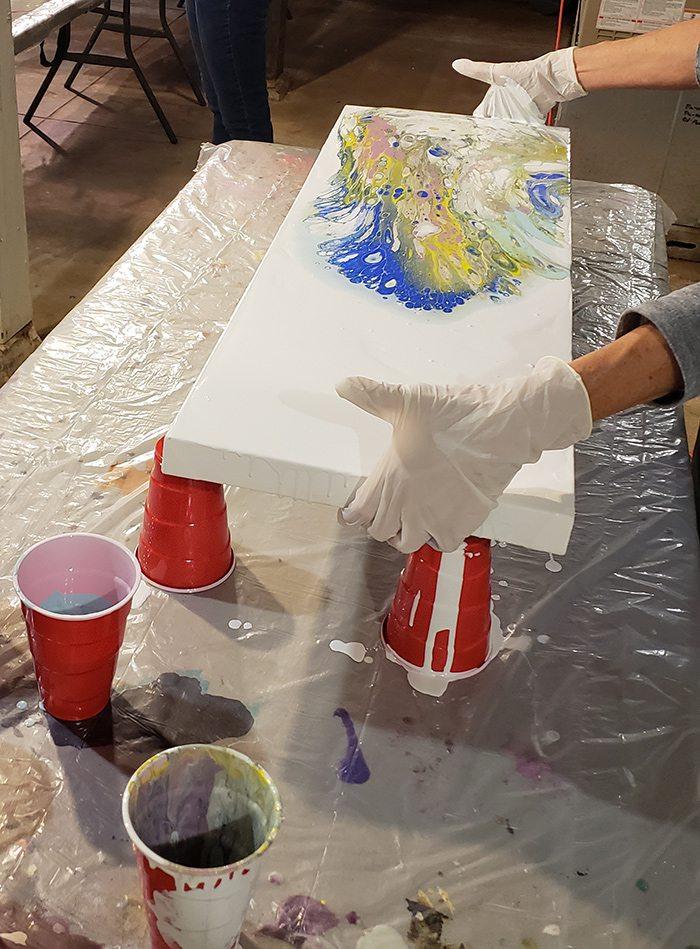 Gavyn Sky Acrylic Paint Pouring