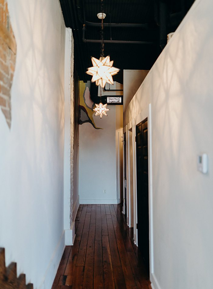Refine Studio's Airbnb Hallway