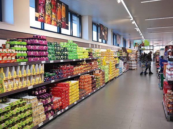 Supermarket interior Shutterstock