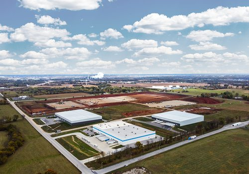 Rendering of Amazon fulfillment center in Republic, MO