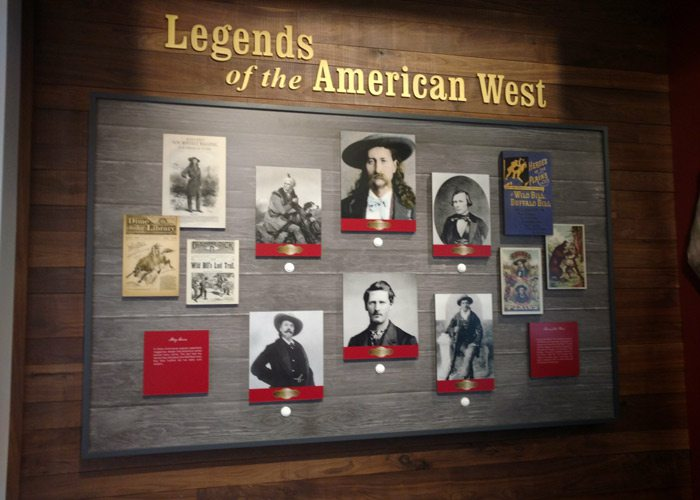 Legends of the American West display
