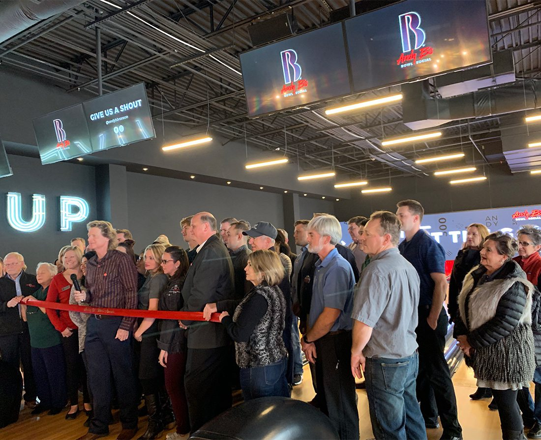 Andy B's Bowl Social in Branson Landing ribbon cutting