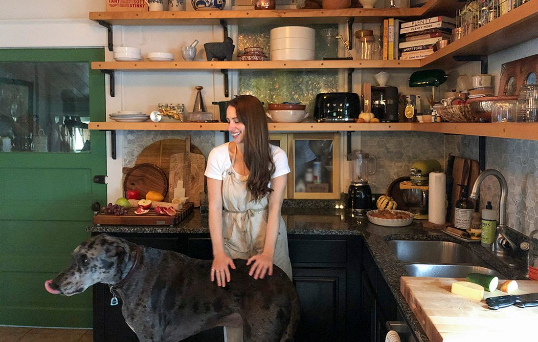 Angela Houska with her dog Hank