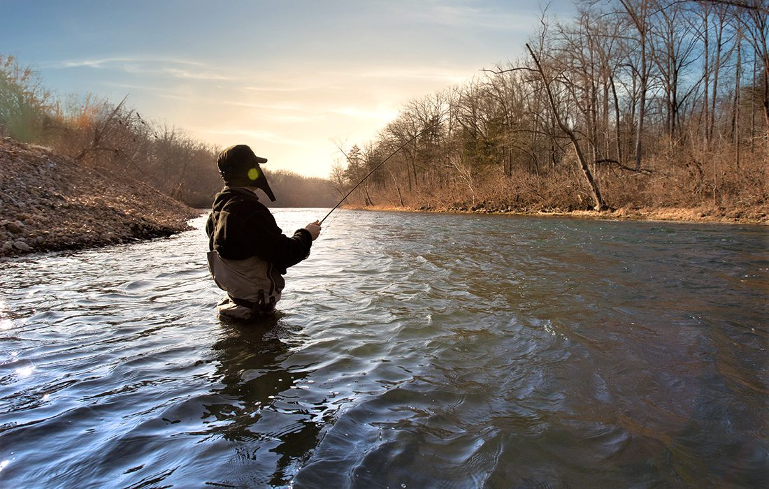Angler fishing on the North Fork of the White River