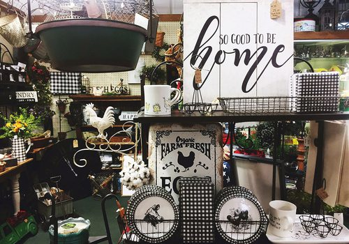 Antiques and gifts for the home.