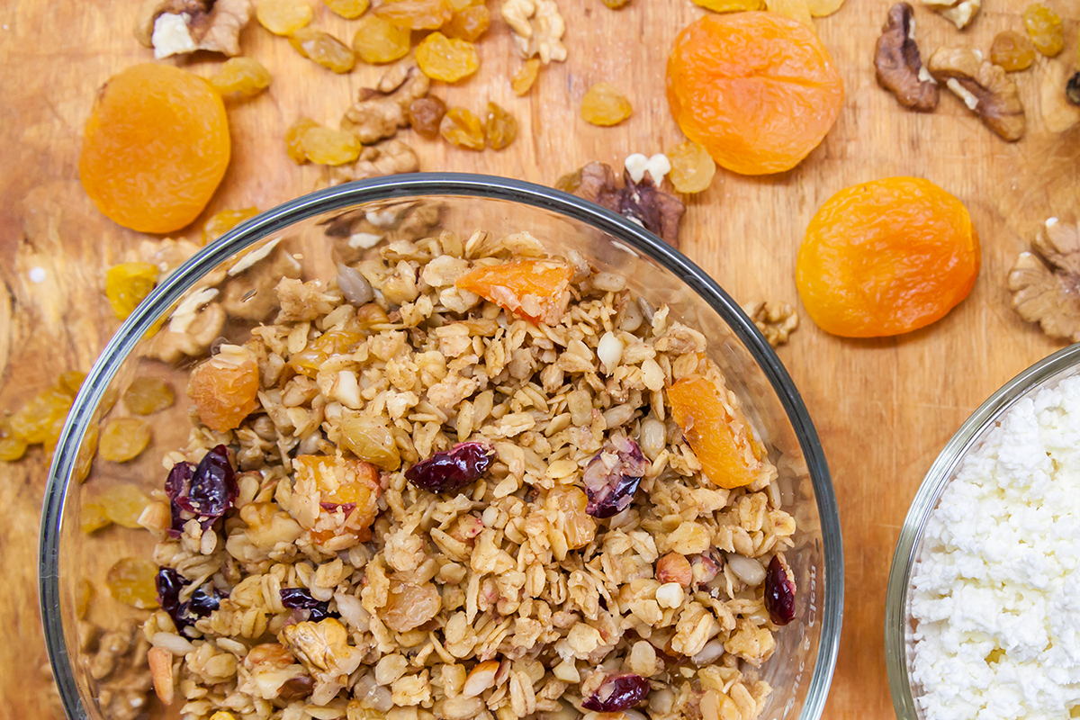 Apricot Cranberry Oatmeal with Walnuts