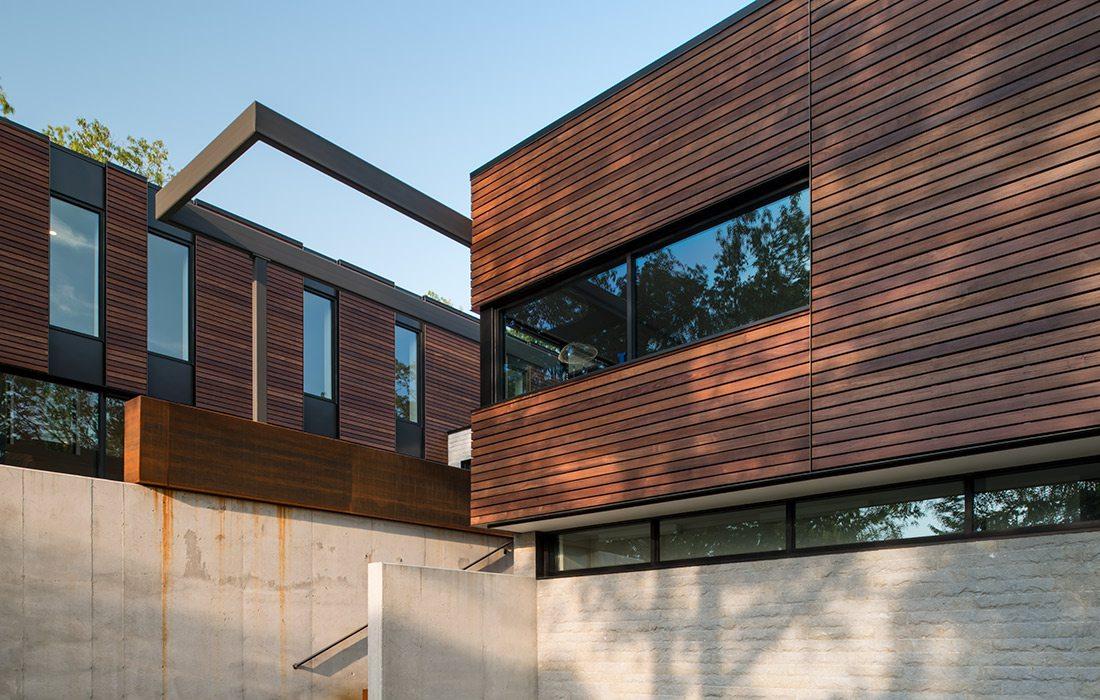 Exterior Arkifex Studios design with blue sky
