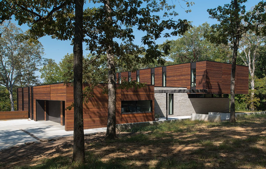 Exterior Arkifex Studios design with trees