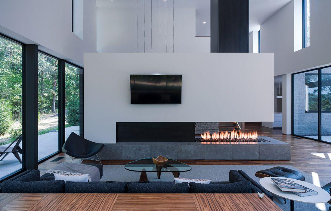 Interior Arkifex Studios design with modern fireplace