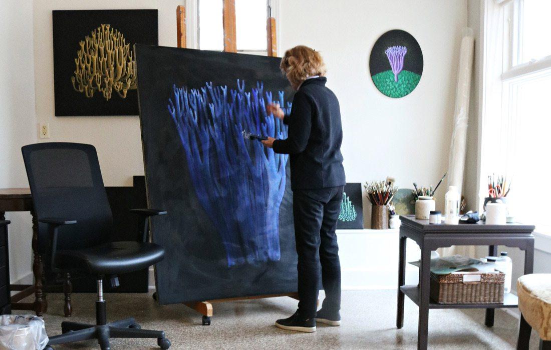 Jane Troup paints