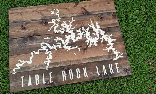 Table Rock Lake custom art