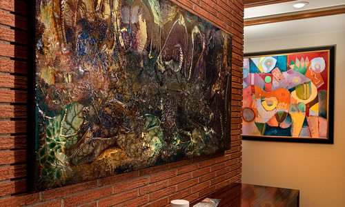 Art display in local home