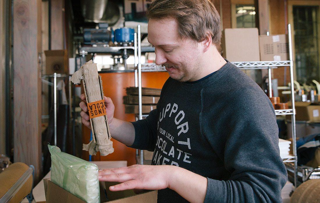 Askinosie Chocolate using eco friendly packaging