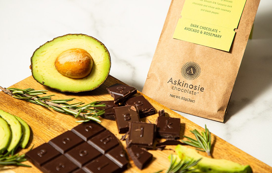 Rosemary and Avocado Dark Chocolate from Askinosie