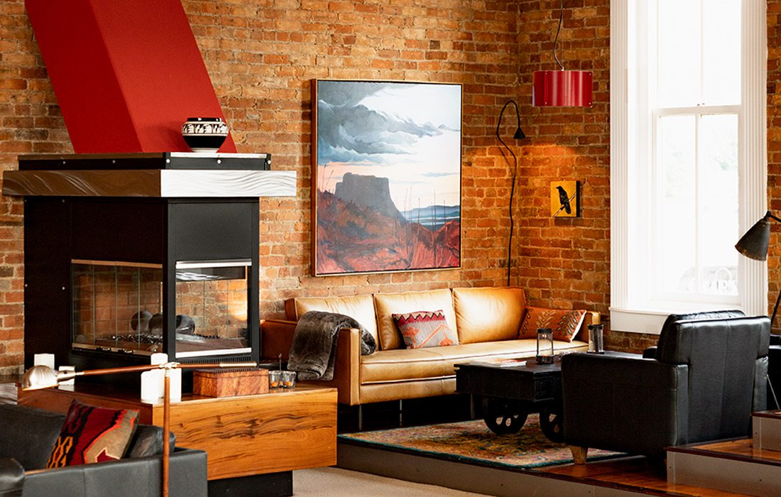 fireplace living area