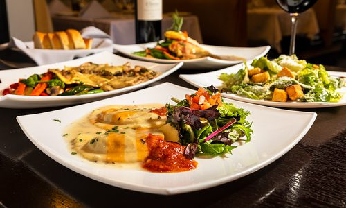 All dishes at Avanzare Italian Dining