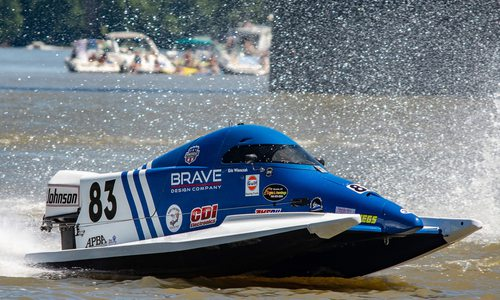 powerboat on the water