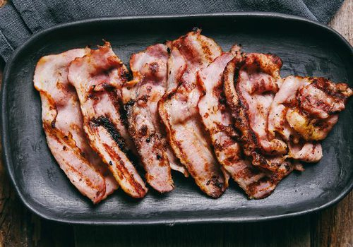 bacon on a skillet