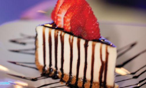 Balsamic Cheesecake at The Cosmopolitan Bistro