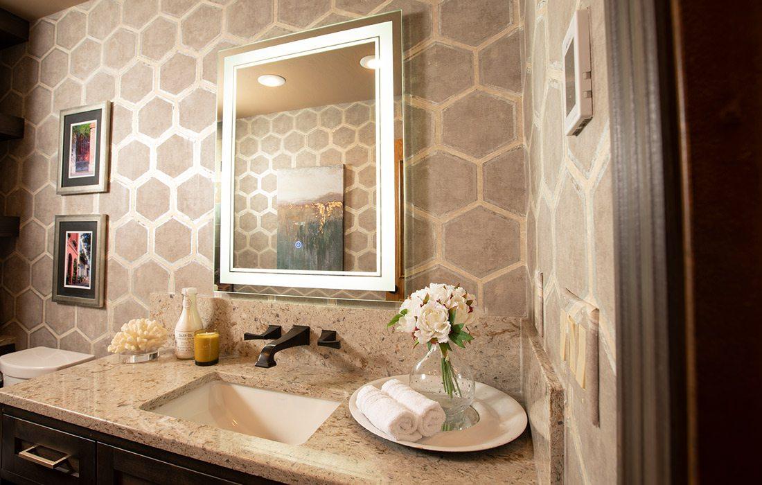 Bathroom vanity bright light