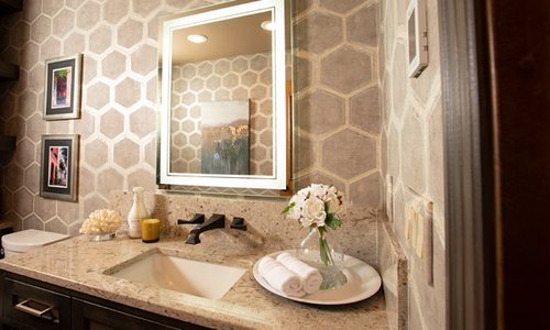 Bathroom vanity decor preview image