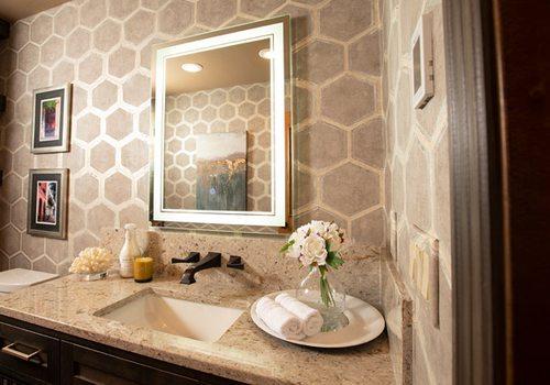 Bathroom vanity decor preview image
