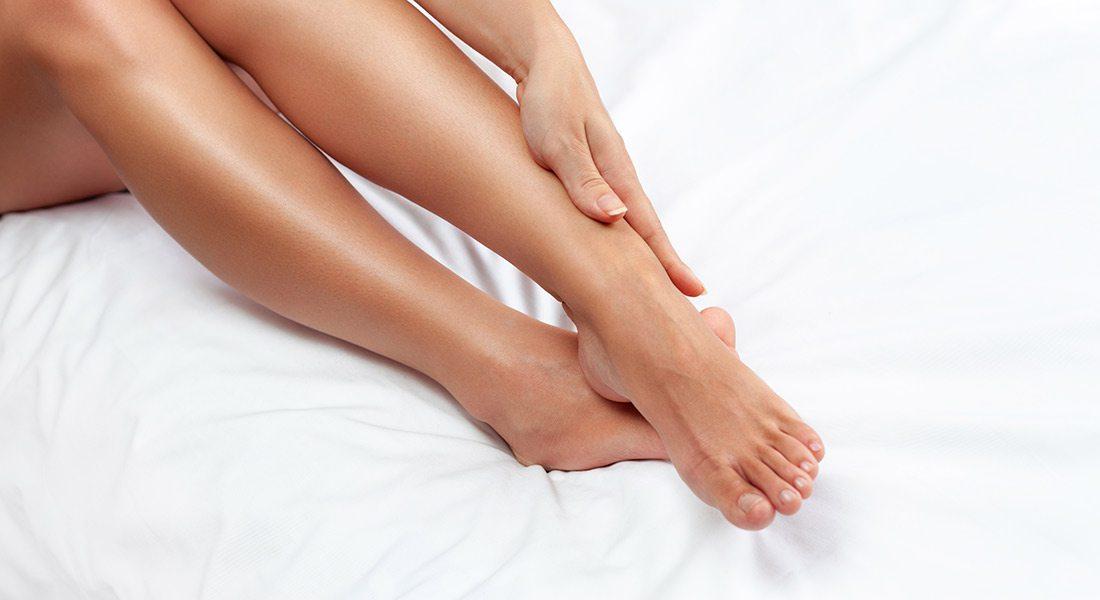 Woman's freshly shaven legs