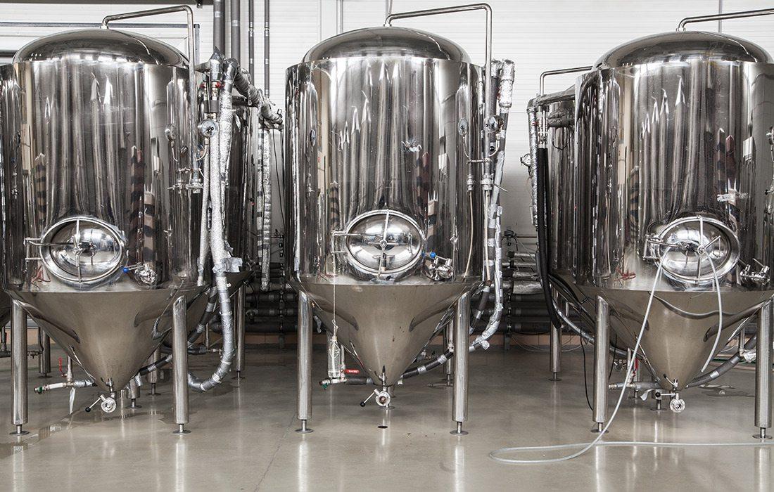 Beer brewing tanks