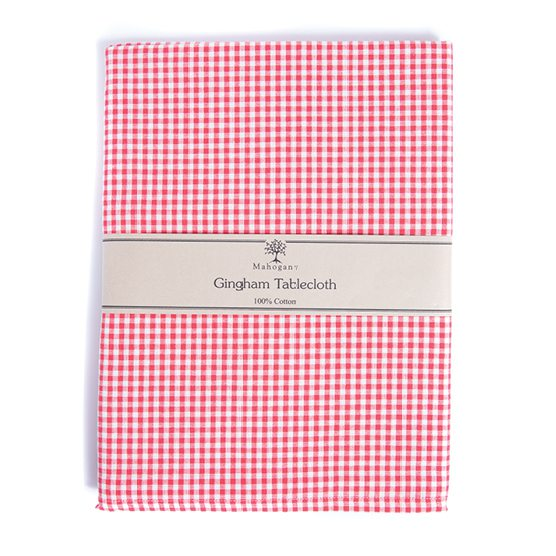 Mahogany gingham tablecloth at Baglady Boutique