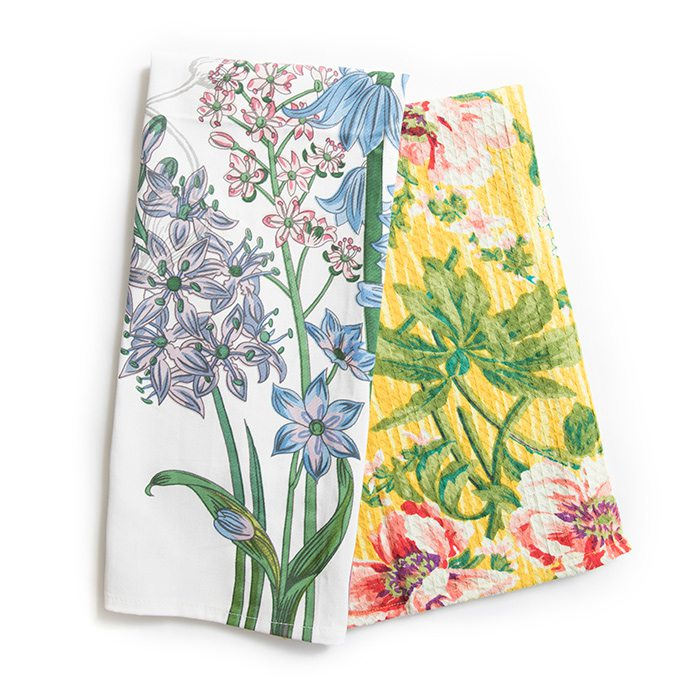 Floral Tea Towels from Harrison House Market and The Brown Derby International Wine Center