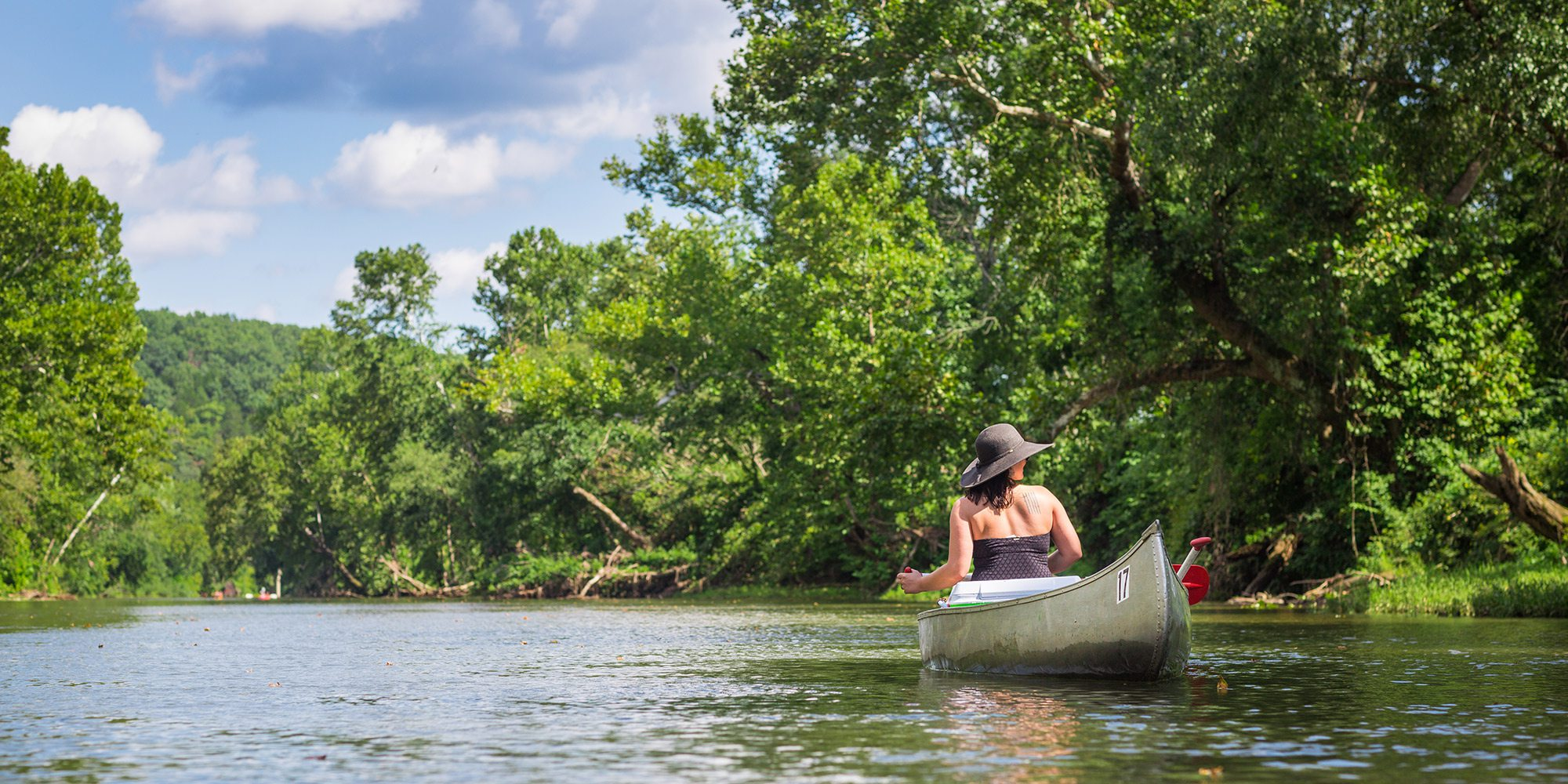 Canoe or float down Big Piney River in Missouri