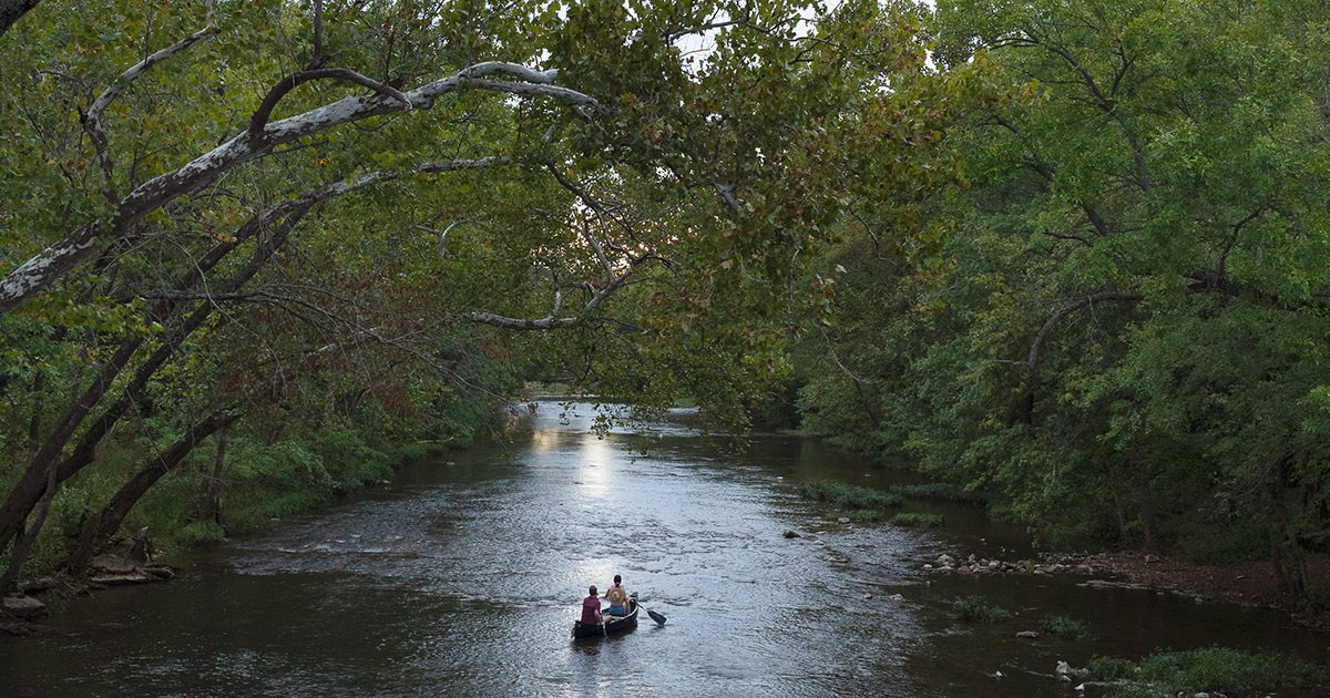 Canoe down the James River near Springfield Missouri