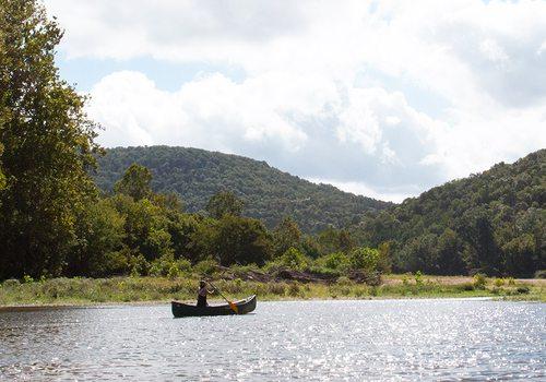 Canoe or float down Kings River in Arkansas