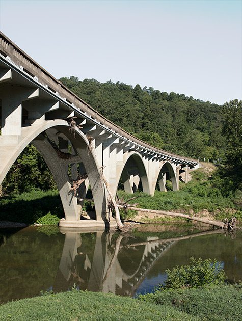Twin Bridges on the North Fork in Missouri